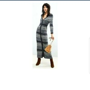FREE PEOPLE COZY UP CARDIGAN SWEATER DRESS M NWT